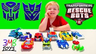 Transformers Rescue Bots Toys Robots in Disguise with Tyler Optimus Prime Bumblebee