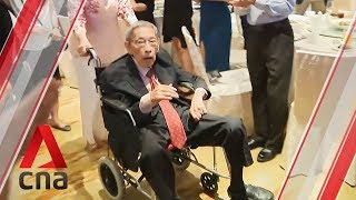 Chiam See Tong makes an appearance at sports fund gala dinner