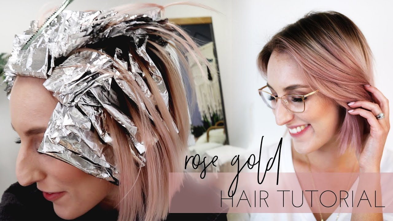 Rose Gold Hair How To Tutorial On Hairstylist My Favorite Color