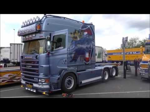 RÜSSEL TRUCK SHOW 2017, Sneepels Scania Longline V8 Sound, powered by  www truck-pics eu