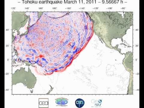 Tsunami simulation of the Tohoku earthquake, Japan, of March 11, 2011 - Updated