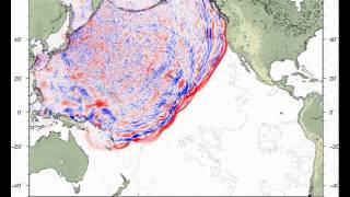 Tsunami simulation of the Tohoku earthquake, Japan, of March 11, 2011 - Updated