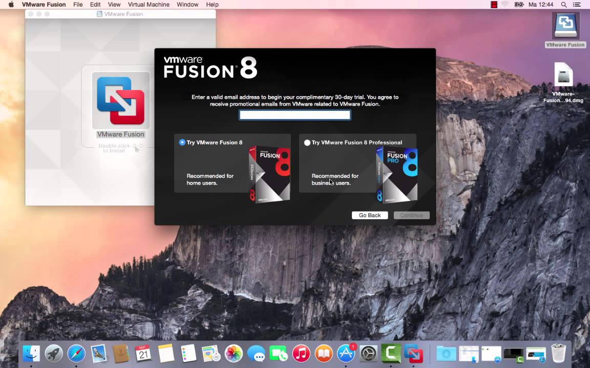 How to install vmware fusion 8 on a mac