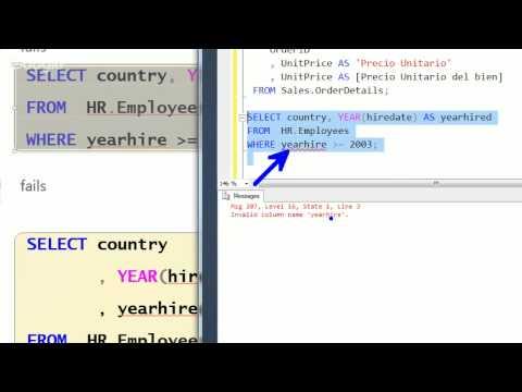 Consultas en MS SQL Server 2012 - Encuentro 01