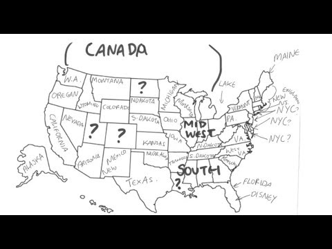 Label The Us Map Brits were asked to label a map of the US   YouTube