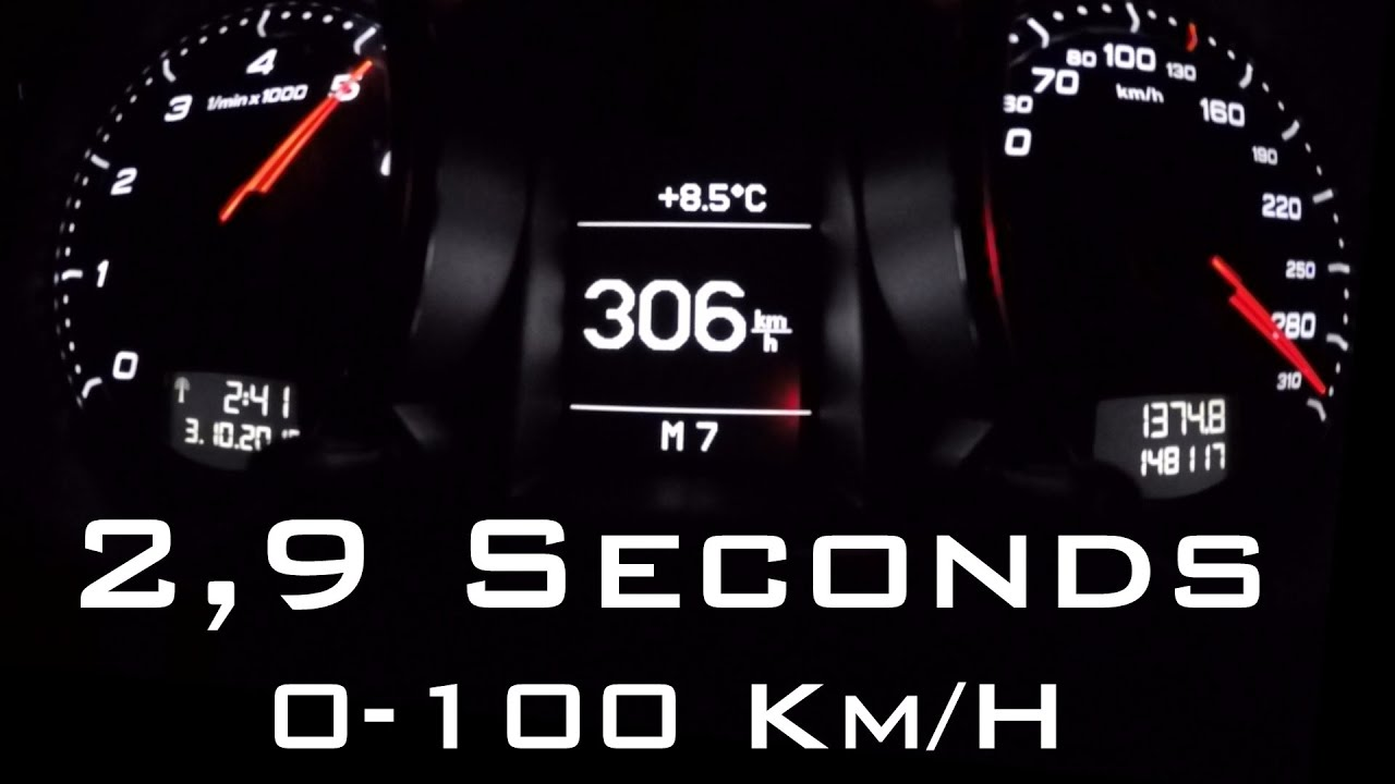 Audi TT RS Tuned - Top Speed Accelerations / 0-100 / 0-200 / 0-300 ...
