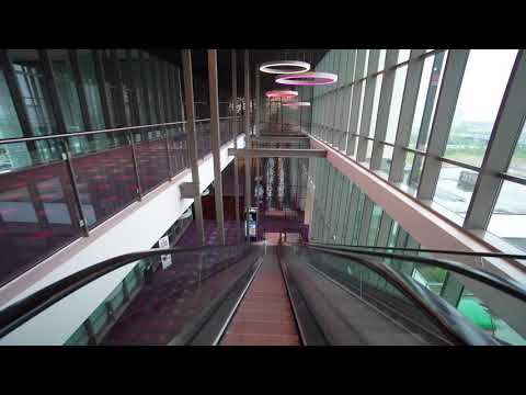 Denmark, Copenhagen, Ørestad, Fields shopping mall, 4X escalator, 2X elevator