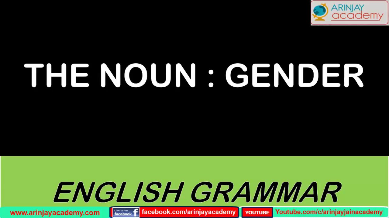 hight resolution of The Nouns - Gender - English Grammar - ISCE#CBSE - Class 6 to 8 - YouTube