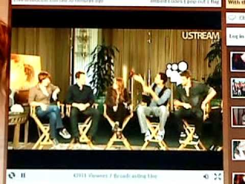 Miley Cyrus & the cast of The Last Song on USTREAM LIVE 03-13-2010 //PART 2/4