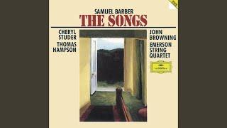 Barber: Four Songs Op.13 - No.4 Nocturne - Andante,un poco mosso