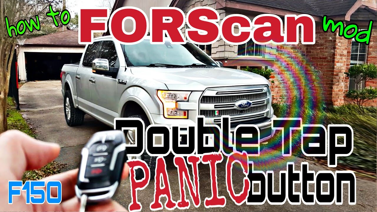 FORScan mods panic button on remote on ford f150
