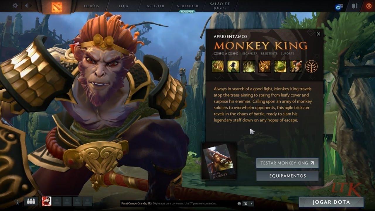 dota 2 v7 00 beta test monkey king e mudan as no mapa e etc