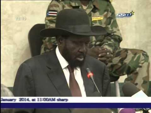 President Salva Kiir Speech to Political Parties in South Sudan