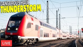 BIG STORM HITS HUGE PASSENGER TRAIN | Train Sim World Gameplay