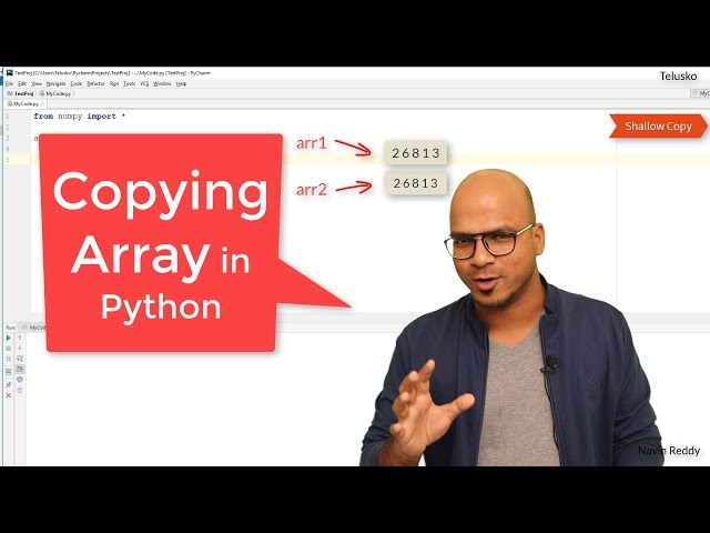 #30 Python Tutorial for Beginners | Copying an Array in Python
