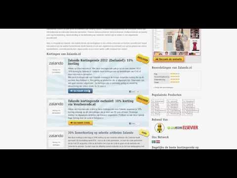 Uitleg: Zalando kortingscode 20% korting op alles