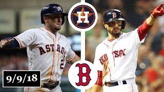 Houston Astros vs Boston Red Sox Highlights || September 9, 2018