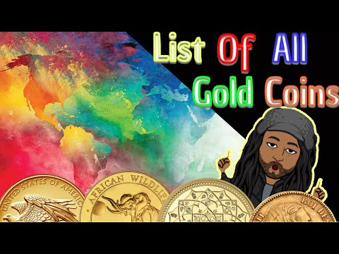 List of all gold bullion coins