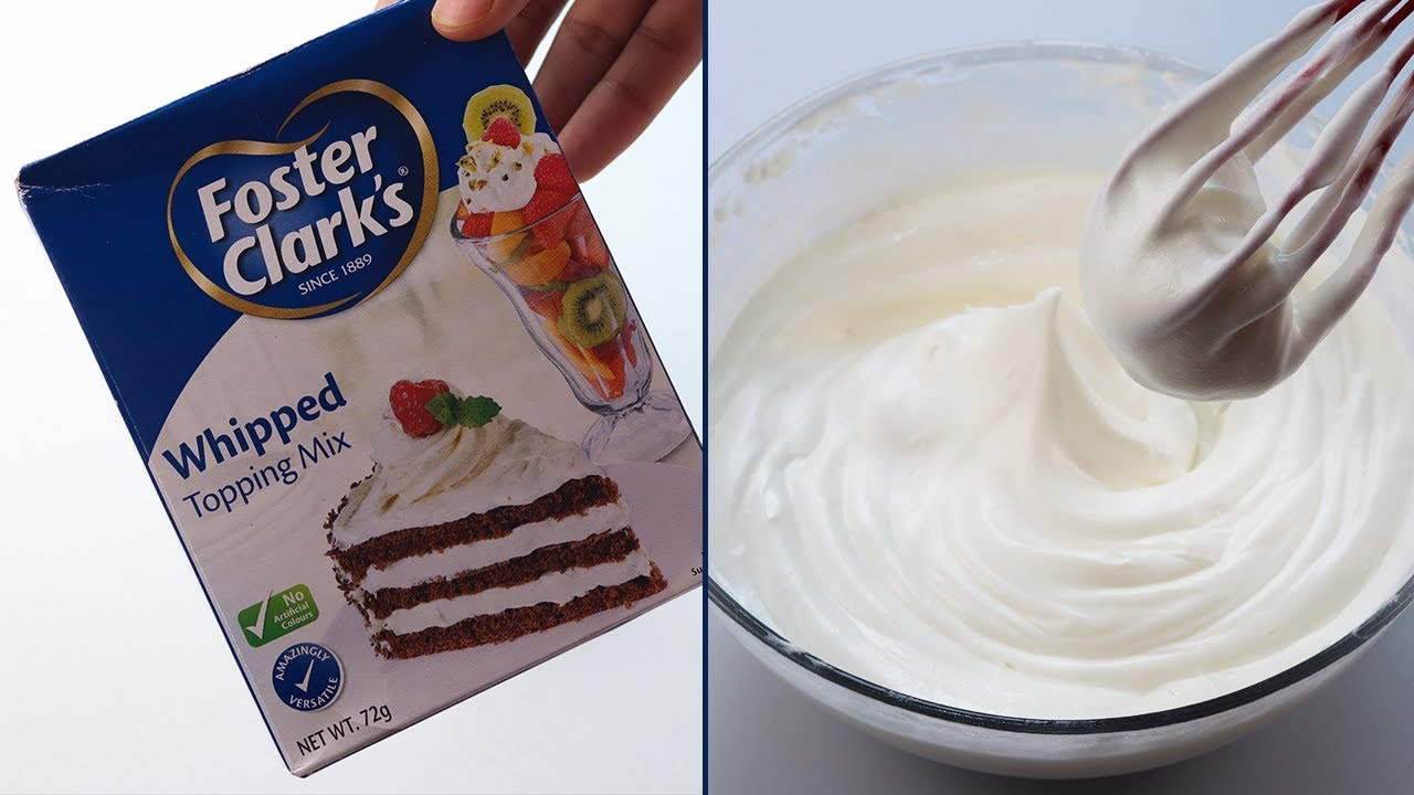 Whipped Cream Foster Clark S Whipped Topping Mix Youtube