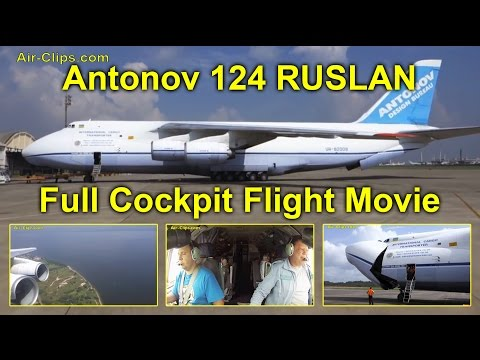 Antonov 124 of Antonov Airlines - FULL MOVIE! Cockpit & cabi