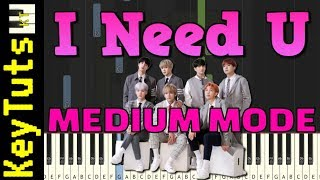 I Need U by BTS - Medium Mode [Piano Tutorial] (Synthesia)