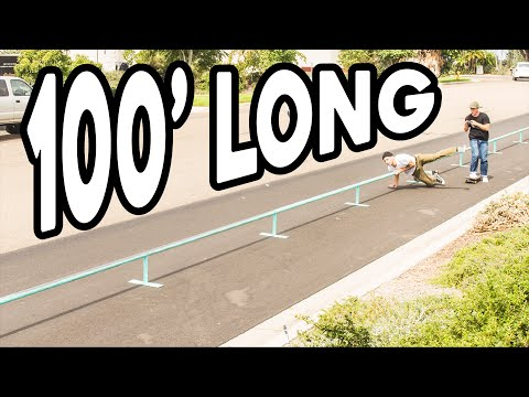 LONGEST SKATEBOARD RAIL IN THE WORLD!