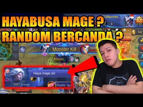KETIKA RANDOM RANK NGEREMEHIN HAYABUSA DISURUH MAGE - Mobile Legend Bang Bang thumbnail