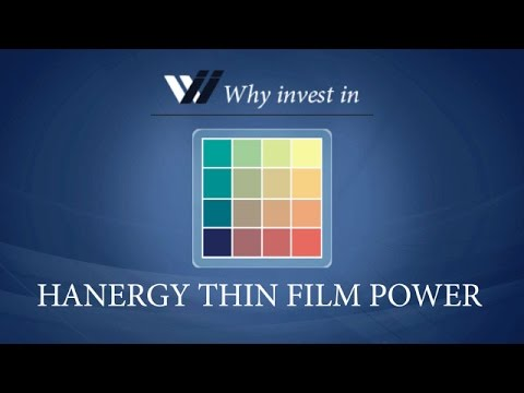 Hanergy Thin Film Power - Why invest in 2015