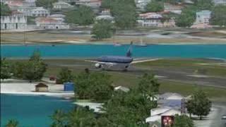 Boeing 777-300 landing in Princess Juliana Intl.(FS2004)