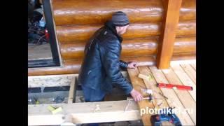 Плотники РФ. Настил/укладка террасной доски(, 2015-11-24T19:41:41.000Z)