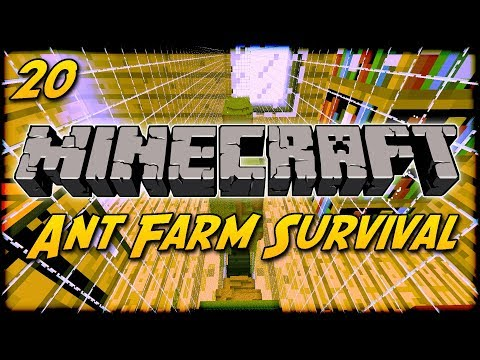 [FINALE] Minecraft Ant Farm Survival [20] - Escaping The Ant Farm!