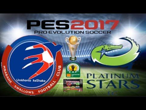 PS4 PES 2017 Gameplay Mbabane Swallows vs Platinum Stars HD