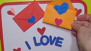 DIY:Подарок маме,папе,другу сделать конверт-сердце простой конверт из сердечка/Поделки своими руками
