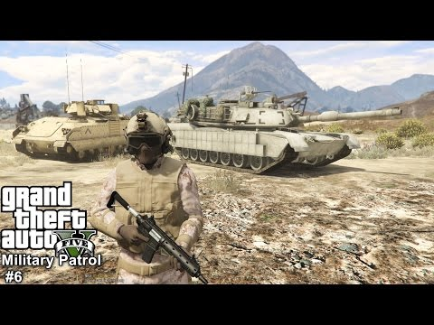 GTA 5 Military Patrol #6 |Tank Wars| M1A2 Abrams & M2A2 Bradley Vs Enemy Merryweather Ground Forces