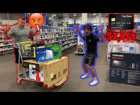 Anything You Can Carry, I'll Buy Challenge With DAD'S Credit Card!