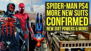 Spider Man PS4 EVEN MORE NEW SUITS Confirmed, New Suit Powers & More! (Marvels Spiderman PS4)
