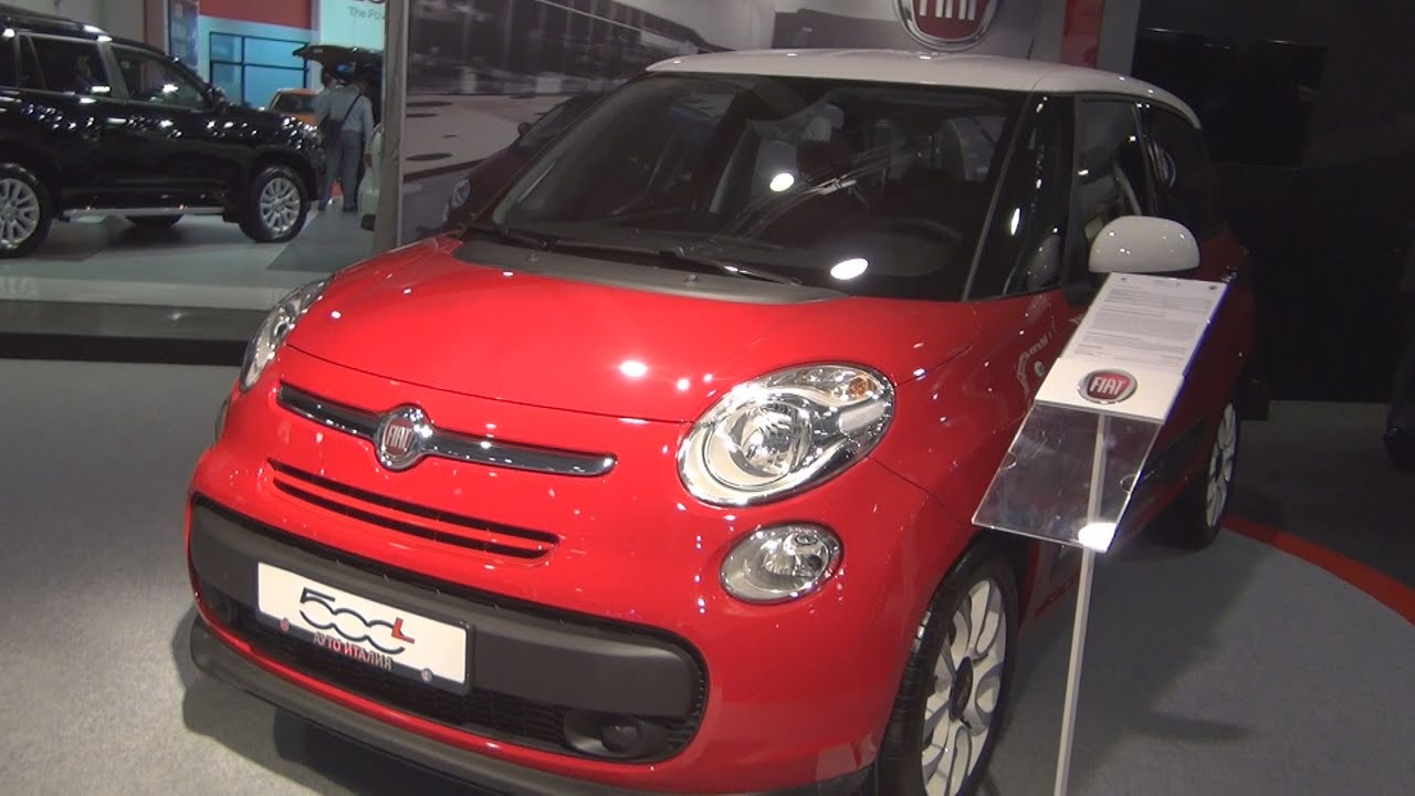 fiat 500l 1 4 pop star 95 2016 exterior and interior in 3d youtube. Black Bedroom Furniture Sets. Home Design Ideas