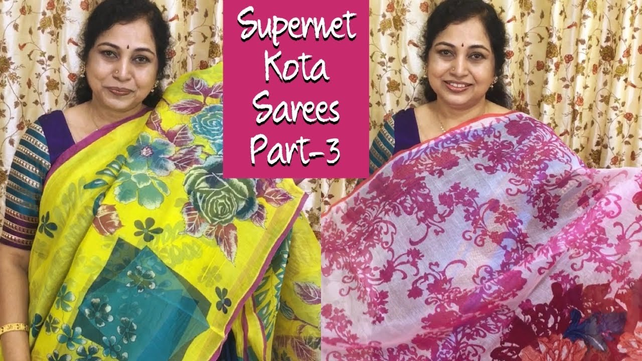 Supernet Kota sarees part-3,Surekha Selections,January 15, 2021