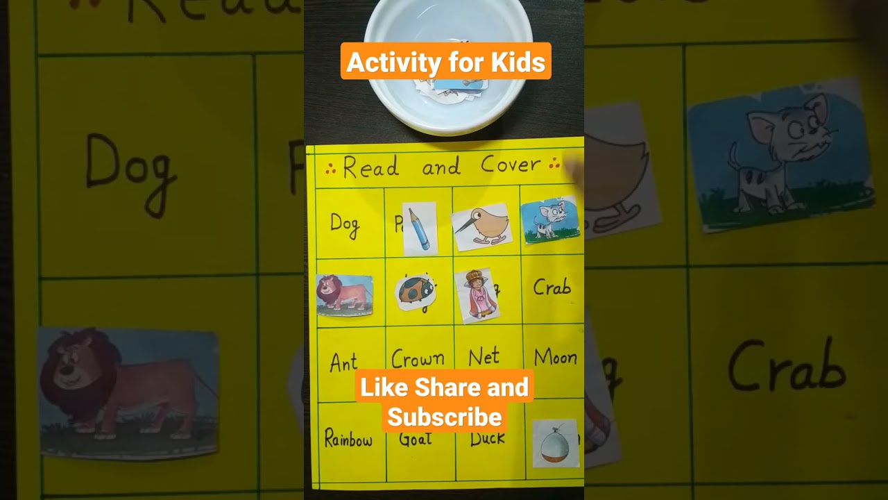 Read and Cover | Brain Boosting Activity for Kids | Rama Rani - Kids Educational Videos