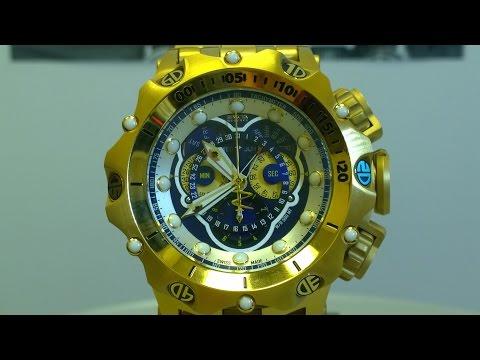 5b5f6301e97 Invicta Reserve Venom 16804 Chronograph Hybrid Master Calendar Gold
