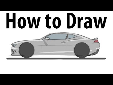 How To Draw A Chevrolet Camaro Z28 Sketch It Quick Youtube
