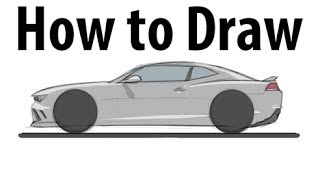 How to draw a Chevrolet Camaro Z28 - Sketch it quick!