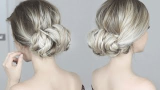 Easy Twisted Updo Hairstyle