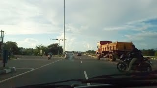 Car Travel Madurai Highway Road Bus & car Overtaking