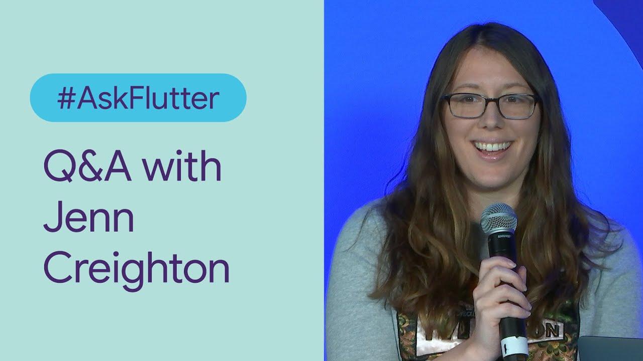 #AskFlutter: Q&A with Jenn Creighton (Flutter Interact '19)