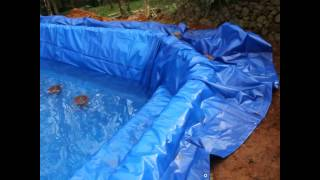 pond liner installation