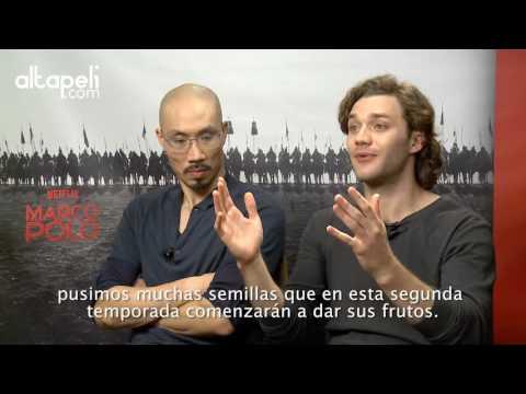 Entrevistas a los protagonistas de Marco Polo, Lorenzo Richelmy y Tom Wu
