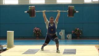 Weightlifting. Тяжёлая атлетика. Первенство ЦФО среди юниоров. 105 кг. Толчок