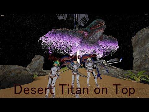Going to Blue ob on Desert Titan ARK SmallTribes PVP Part 1