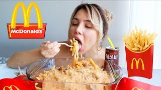 burgers and fries mukbang